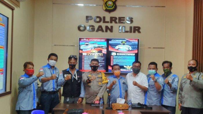 Silaturahim dengan PWI, Polres Ogan Ilir dan Media Komitmen Tingkatkan Sinergitas