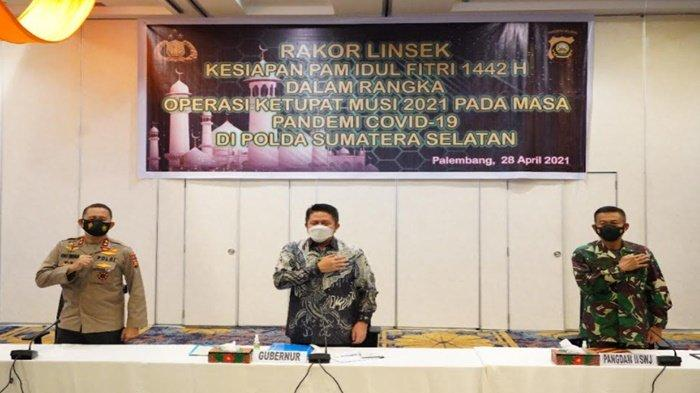 Rakor Kesiapan Pengamanan Idul Fitri 1442 H,Pangdam II Sriwijaya Ungkap Kearifan Lokal Tak Dilupakan