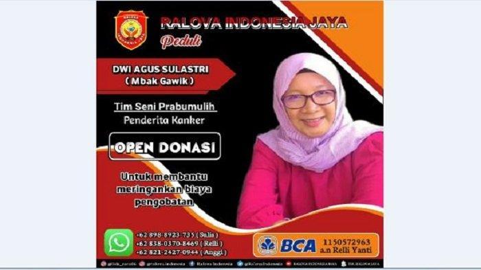 Ralova Indonesia Jaya (RIJ) fanbasenya Rara LIDA secara konsisten menjalankan misi sosialnya, kali ini penderita kanker payudara di Kota Prabumulih.