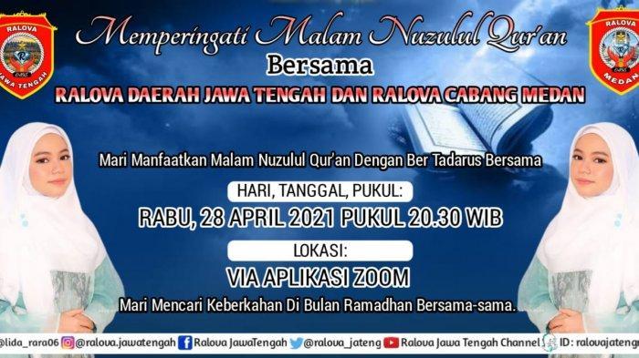 Ralova Indonesia Jaya Gelar Peringatan Nuzulul Quran Online
