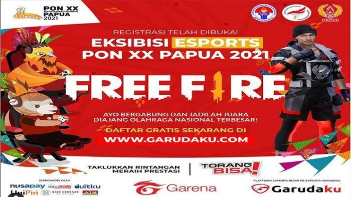 Link dan Cara Pendaftaran Registrasi Eksebisi Free Fire PON XX Papua 2021