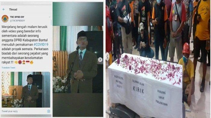 Sosok Supriyono Anggota DPRD Bantul Sebut Ada Proyek di Pemakaman Jenazah Covid-19, Dikecam Relawan