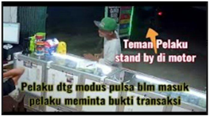 Detik-detik Aksi Pencurian Handphone di Sukarame Palembang Terekam CCTV, Viral di Sosial Media