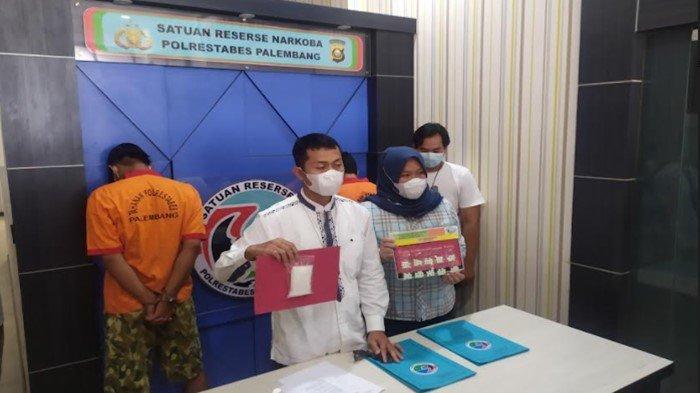 Belum Sempat Diantar ke Pulau Rimau, Kurir Ekstasi Ditangkap Satres Narkoba Polrestabes Palembang