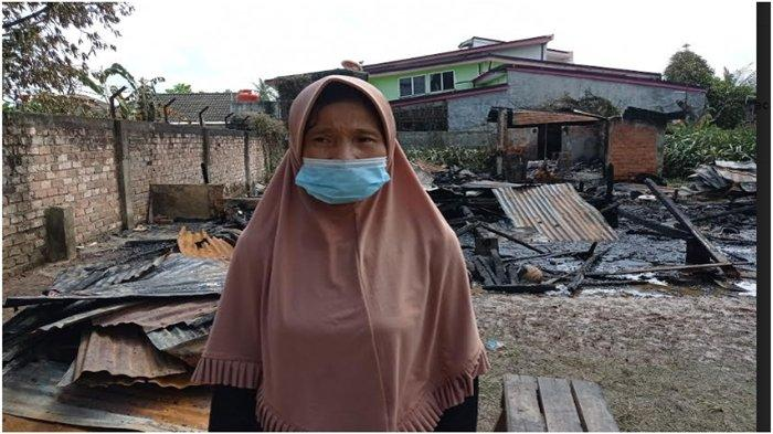 Rumah Janda 2 Anak Pedagang Sembako Keliling Hangus Terbakar, Tidak Ada BarangTerselamatkan