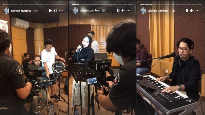 Tangkapan Layar Instagram Story Grup Gambus Sabyan Sedang Latihan, Kamis (29/4/2021)