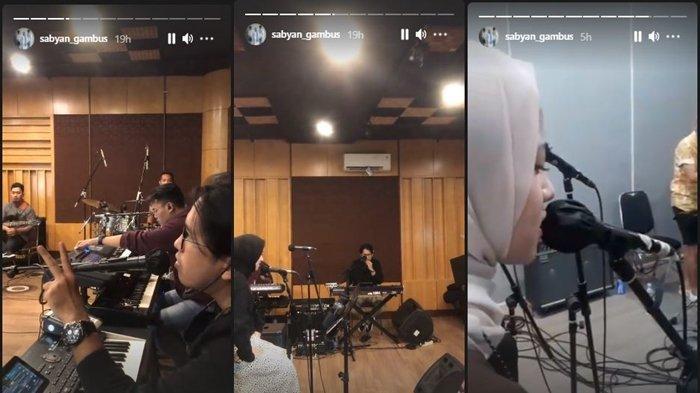 Tangkapan Layar Instagram Story Proses Grup Gambus Sabyan Sedang Berlatih , Kamis (29/4/2021)