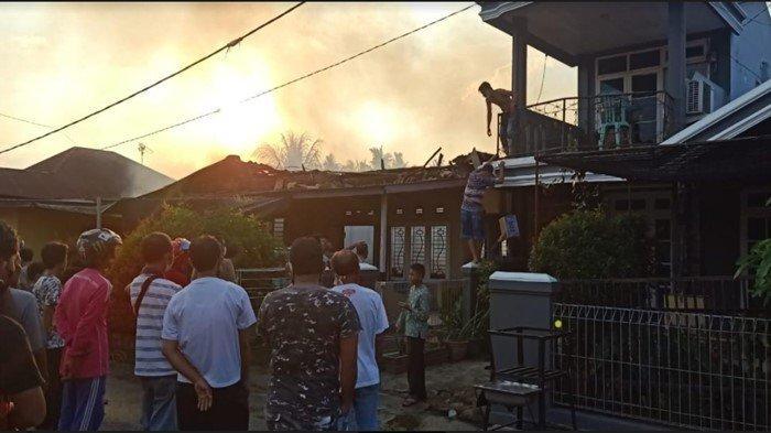 Kebakaran di Kompleks DPRD OKI, 1 Rumah Permanen Terbakar,  Dihuni 2 Kepala Keluarga