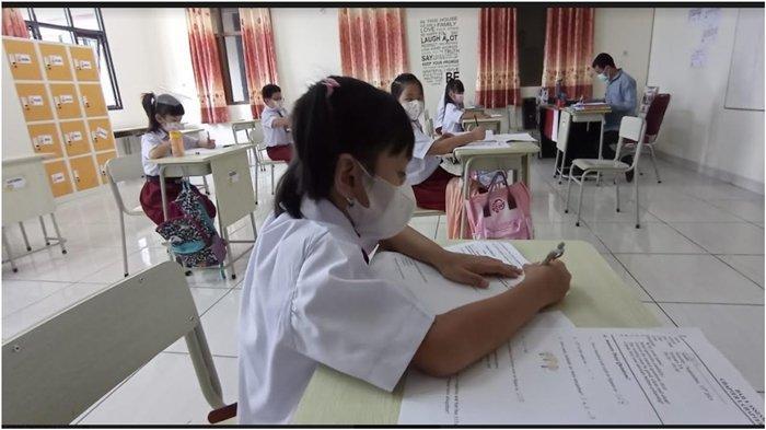 PTM Terbatas di Palembang Tahap Kedua, SD Manggala Terapkan Selisih 15 Menit Tiap Kelas