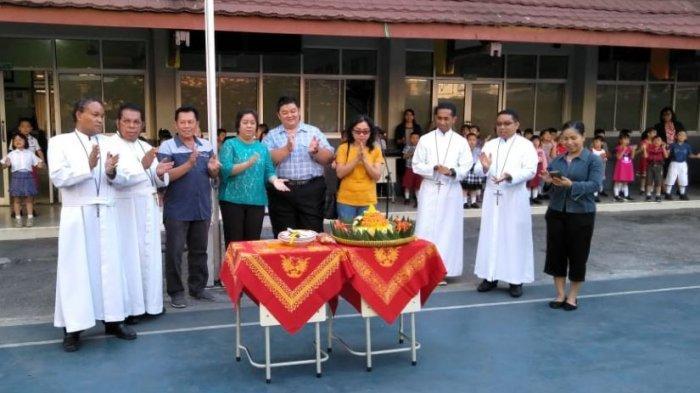 Ratusan Siswa Peringati Hari Jadi ke-72 Tahun SDK Frater Xaverius 2 Palembang