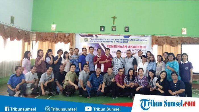 SDK Frater Xaverius 2 Palembang Gelar Pembinaan Akademik 38 Gurunya, Jadi Lebih Profesional