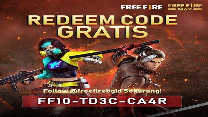 Segera Klaim Kode Redeem Free Fire (FF) Terbaru FF10TD3CA4R, Tukarkan Sekarang
