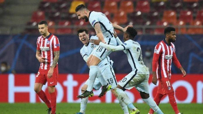 Olivier Giroud Cetak Gol Akrobatik  Setara Didier Drogba, Atletico Madrid 0-1 Chelsea Liga Champiomn