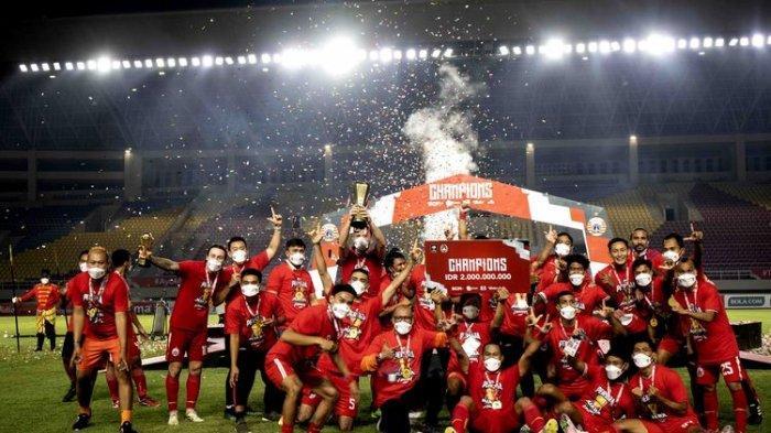 Penerima Penghargaan dan Juara Piala Menpora 2021, Pemain Terbaik Milik Marc Klok dari Persija