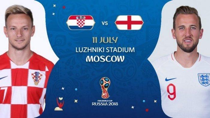 Nonton Live Streaming Piala Dunia Kroasia Vs Inggris di HP via Indosat, XL dan Telkomsel