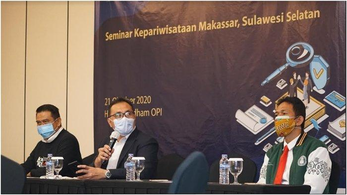Seminar dan diseminasi yang dilaksanakan Poltekpar Palembang berkolaborasi dengan Poltekpar Makasar di Hotel Wyndham OPI, Rabu (20/10/2020).