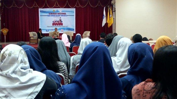 Pekan Ekonomi Nasional Sriwijaya (PENAS) Gelar Seminar Bisnis Kreatif di Era Revolusi Industri 4.0