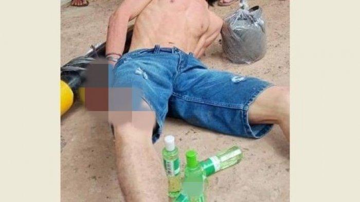 Viral Pria Babak Belur Dimassa, Diduga Curi 4 Botol Minyak Kayu Putih di Minimarket Banyuasin