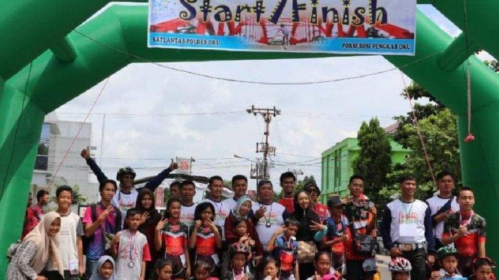 86 Atlet Sepatu Roda Ikut Skate Cross Championship OKU Open 2019 di Taman Kota Baturaja