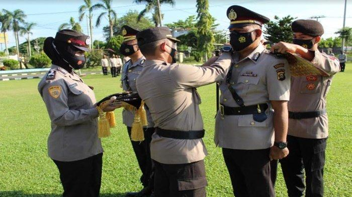 Kapolres Ogan Ilir Pimpin Sertijab Wakapolres dan Kasat Samapta, Kompol Hadirman Jabat Wakapolres OI
