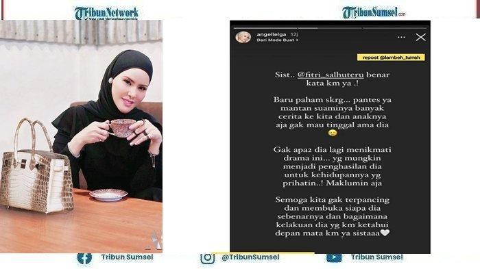 Bikin Vicky Prasetyo Divonis 4 Bulan, Angel Lelga Posting Curahan Hati Terkait Fitri Salhuteru