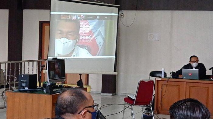Sidang putusan Johan Anuar digelar di Pengadilan Topikor Palembang, Selasa (4/5/2021).