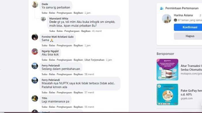TIDAK BISA DIBUKA, Berikut Penyebab SIMPKB dan Info GTK Gangguan Ramai Dipertanyakan di Facebook