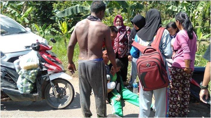 Kecelakaan di Jalintim Banyuasin, Hindari Motor Siswi SMK Jatuh dari Motor, Langsung Pingsan