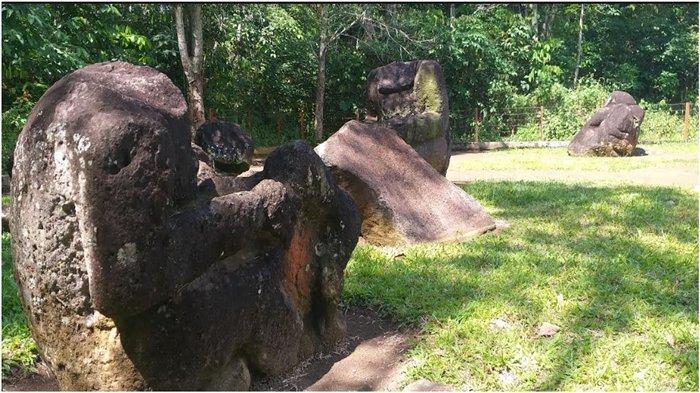 Situs Megalitikum Rinduati Gumay Ulu Dirusak Orang Pakai Palu, Semua Kepala Arca Hilang