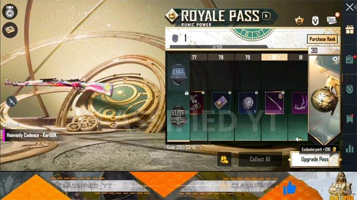Bocoran Skin Level 80 PUBG Mobile Royale Pass 18- Heavenly Cadence