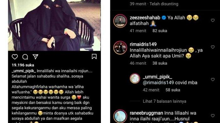 Soraya Abdulah meninggal dikabarkan Umi Pipik