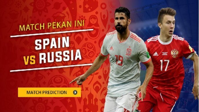 Nonton Live Streaming Piala Dunia Spanyol Vs Rusia di HP via Indosat, XL dan Telkomsel