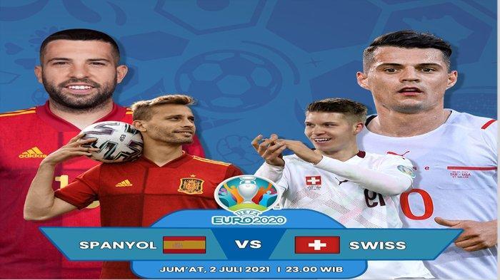 Jadwal Siaran Langsung Euro 2020 Malam ini : Menanti Laga Spanyol vs Italia di Semifinal