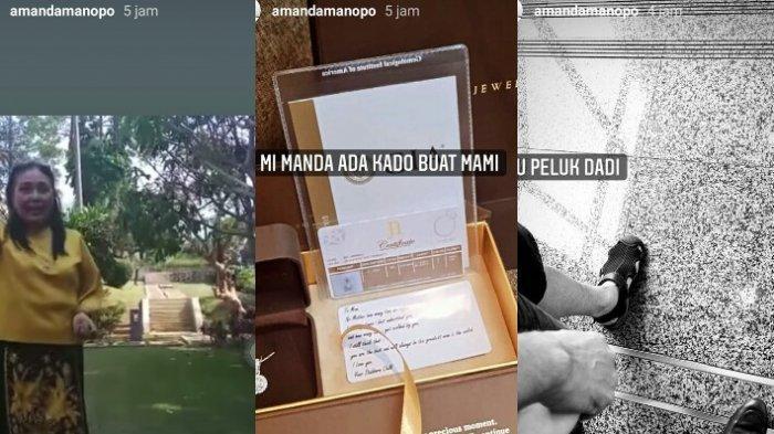 Story instagram Amanda Manopo rindukan orangtuanya yang sedang sakit