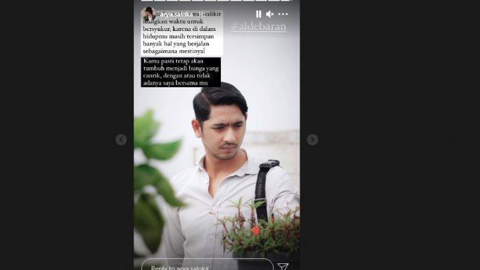 Story instagram Arya Saloka isyaratkan Aldebaran meninggal