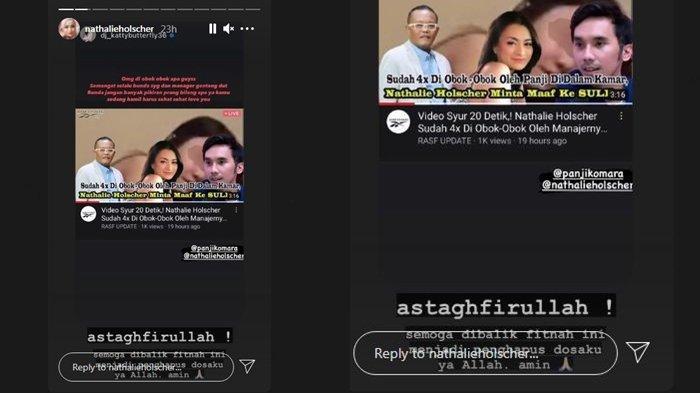 Story instagram Nathalie Hoslcher terkait isu bermain api dengan asisten Sule (Instagram/nathalieholscher)