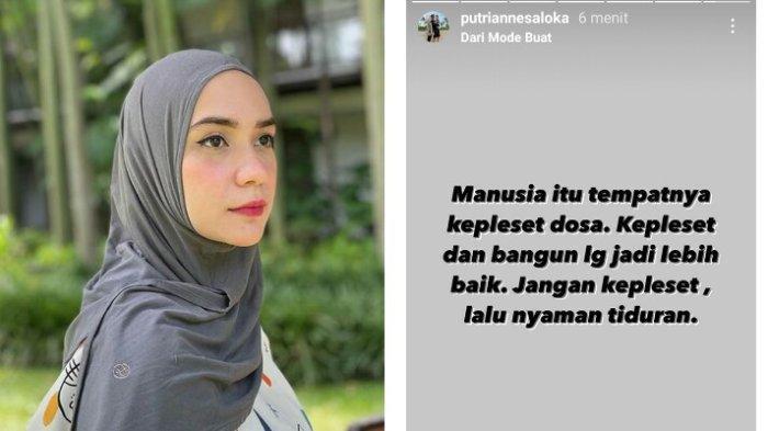 Instagram Story Putri Anne singgung soal kekhilafan dosa