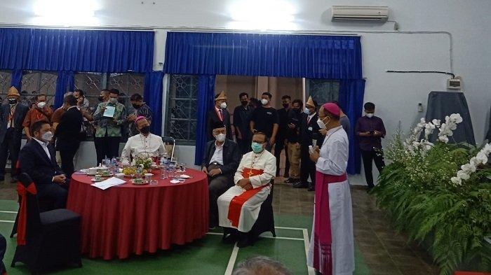 Herman Deru Hadiri Silaturahmi dengan Uskup Agung Palembang Mgr Yohanes Harun Yuwono