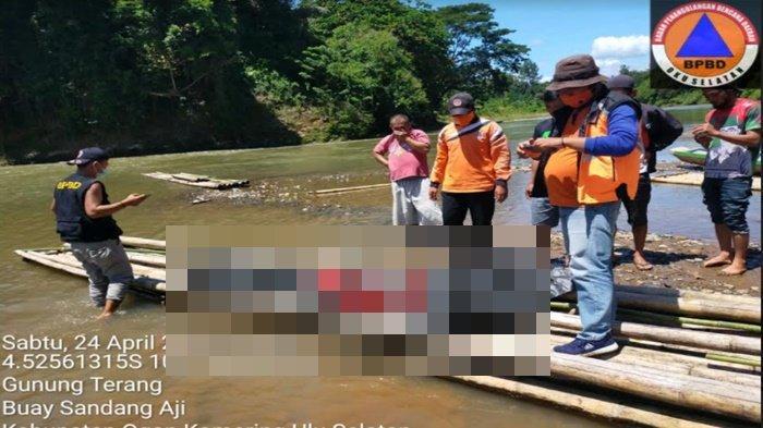 Hanyut 2 Hari, Jasad Suryana Petani Desa Simpang Tiga Ditemukan Terapung di Sungai Saka