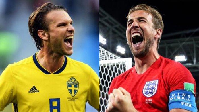 Nonton Live Streaming Piala Dunia Swedia Vs Inggris di HP via Indosat, XL dan Telkomsel