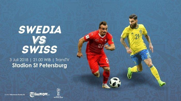 Nonton Live Streaming Piala Dunia Swedia Vs Swiss di HP via Indosat, XL dan Telkomsel