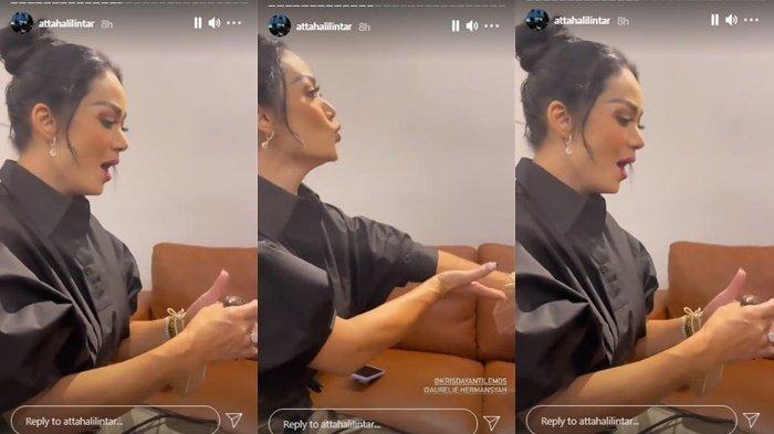 Tangkapan layar Krisdayanti latih vokal Aurel Hermansyah