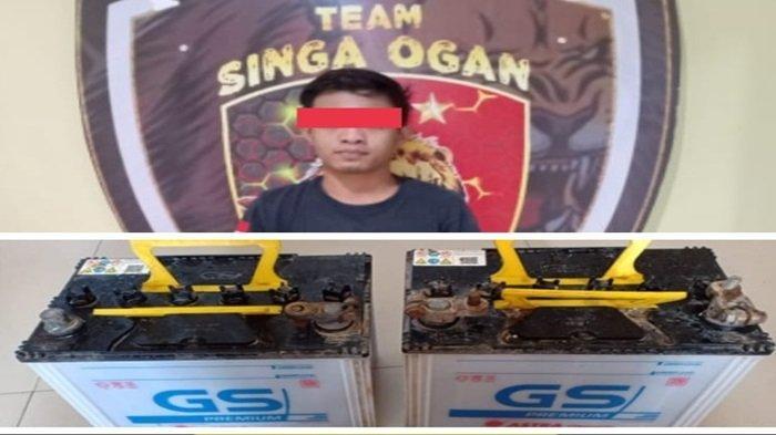 Curi Aki di Jalan Tiga Gajah Baturaja Timur OKU, Redho Dibekuk Polisi, 1 Masih Buron
