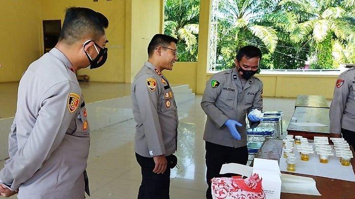Termasuk Kapolres AKBP Yusantiyo, 36 Perwira Polres Ogan Ilir Tes Urine Dadakan