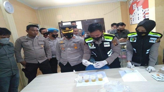 Polres Ogan Ilir Tes Urine Dadakan Acak ke 10 Anggota, Ini Hasilnya