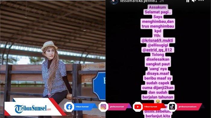 Tagih Hutang ke Elly Sugigi, Tessa Mariska Dibuat Kesal Instagram Diblock Elly, Seret Krisna Mukti