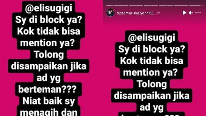 Tessa Mariska Tagih Hutang ke Elly Sugigi dan Krisna Mukti