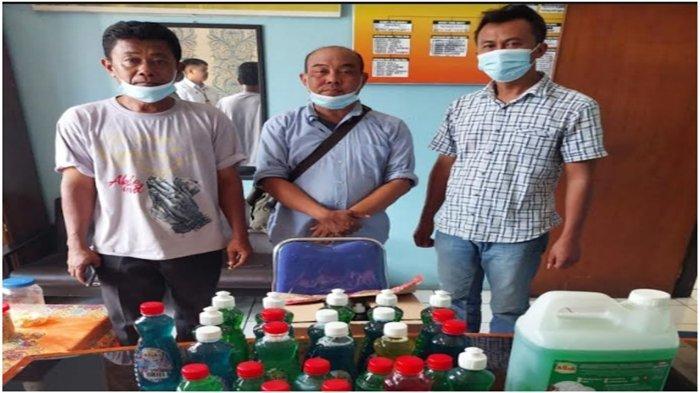 Polres Musi Rawas Amankan 3 Pria Bawa Ribuan Botol Sabun Cair, Produk Tidak Ada Label  BPOM