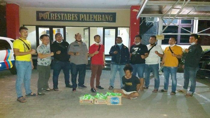 Lompati Pagar Lalu Curi Sabun Cuci Piring, Pemuda di Palembang Diringkus Polisi