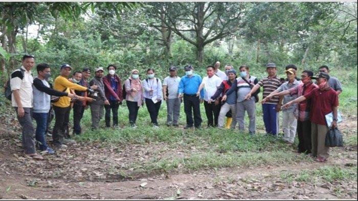 Tim PBD Lakukan Verikasi Lapangan Batas Muara Enim-Banyuasin Bersama Kemendagri